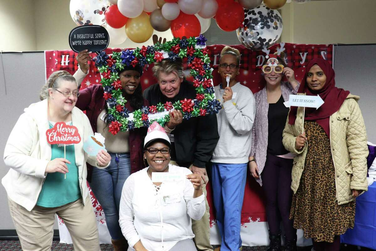 Home Instead Senior Care employees enjoying a holiday event in Schenectady, N.Y. (photo provided)