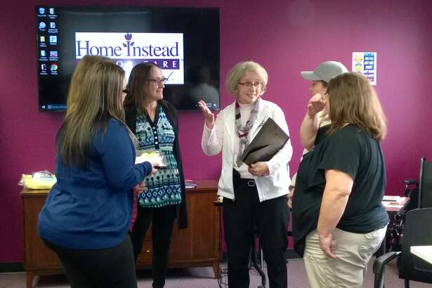 Home Instead Senior Care employees take part in a training class in Schenectady, N.Y. (photo provided)
