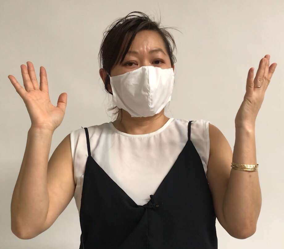 Chloe Dao is creating surgical masks for free for healthcare workers and other people who need  them. Photo: Chloe Dao