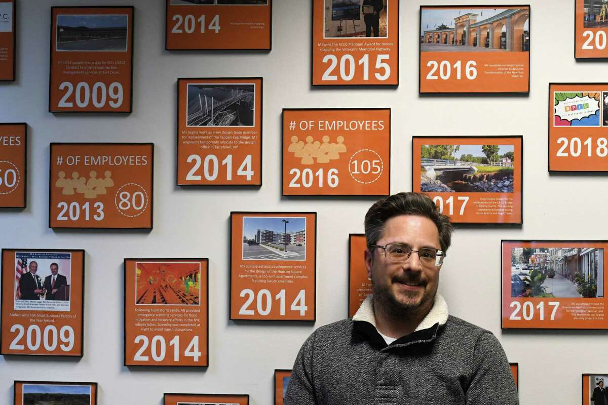 Michael Panichelli, principal and president of MJ Engineering and Land Surveying on Thursday, Feb. 27, 2020, at MJ Engineering in Clifton Park, N.Y. (Will Waldron/Times Union)