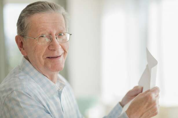 An older man wants to keep his love letters with his first wife.