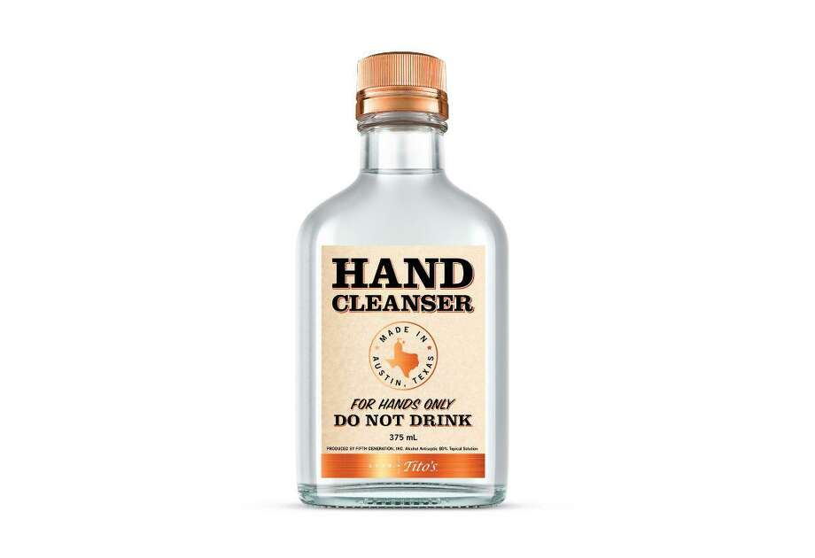 Tito's Handmade Vodka will produce and distribute 24 tons of hand sanitizer. Photo: Courtesy / Contributor