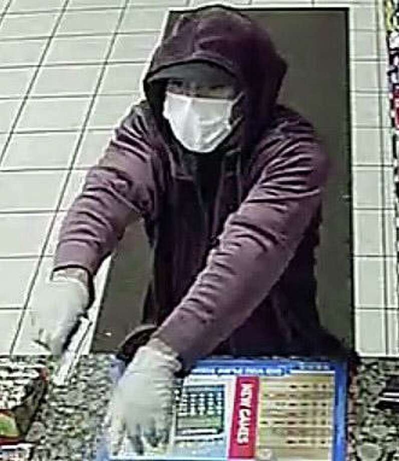 Police are looking for a suspect who fired a shot from a handgun while trying to rob the Shell Gas Station on Main Street early Monday morning on March 23, 2020. Lt. Patrick Lynch said a male suspect attempted to rob business round 12:40 a.m. Police are asking the public's help to ID the suspect. Photo: Ansonia Police Department Photo