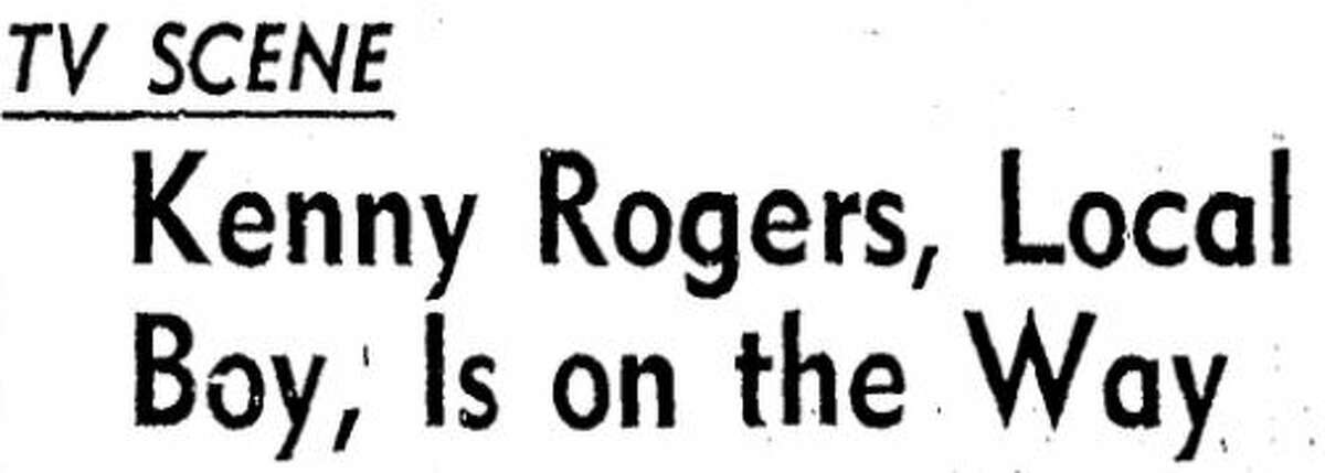 Houston Chronicle headline from March 17, 1958.