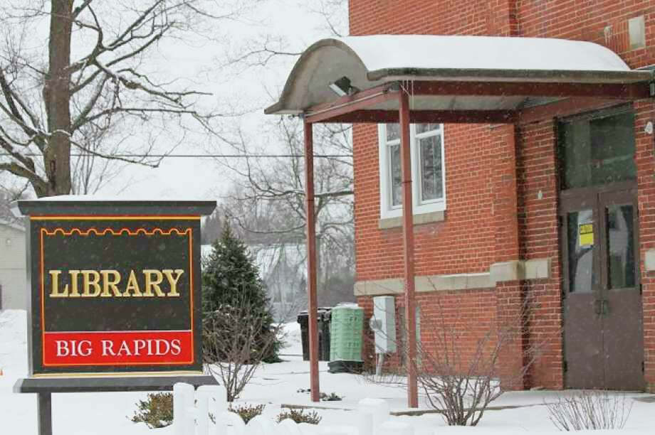 The Big Rapids Community Library will now be closed through April 13. (Pioneer file photo)