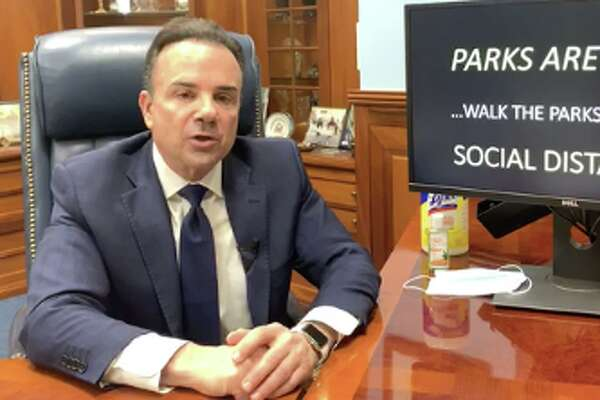 Ganim gives daily coronavirus briefing.