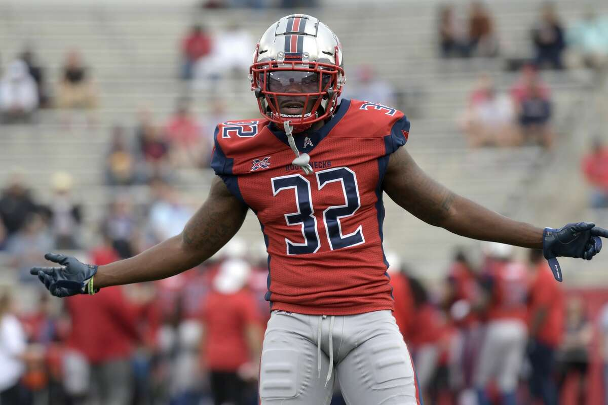 Deatrick Nichols #32 of the Houston Roughnecks looks on before the game against the St. Louis BattleHawks at TDECU Stadium on Feb. 16. >>>PHOTOS: XFL players with the best chance to make the jump to NFL...