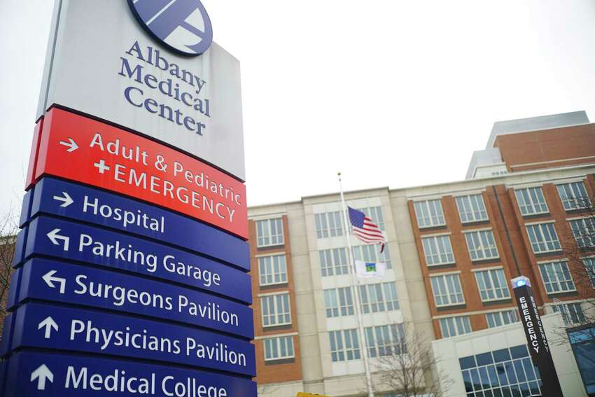 A view of Albany Medical Center on Monday, March 23, 2020, in Albany, N.Y. (Paul Buckowski/Times Union)