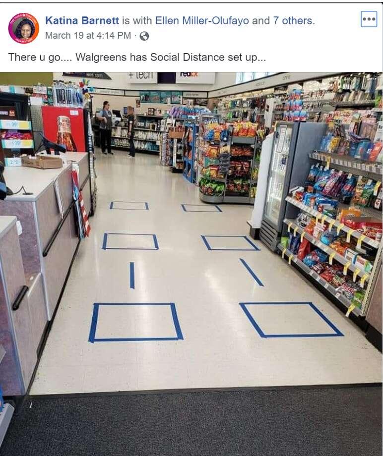 Walgreens Steps Up Social Distancing Tactics By Placing