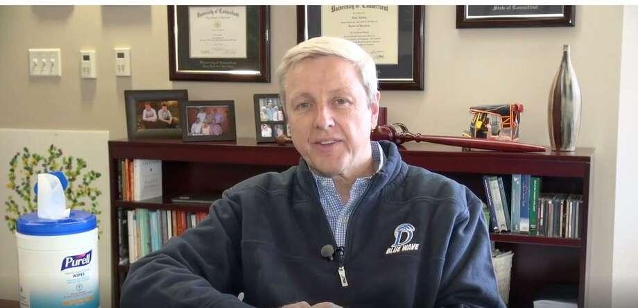 Dr. Alan Addley, Schools Superintendent of Darien, released an update video for school families. Photo: Darien School District