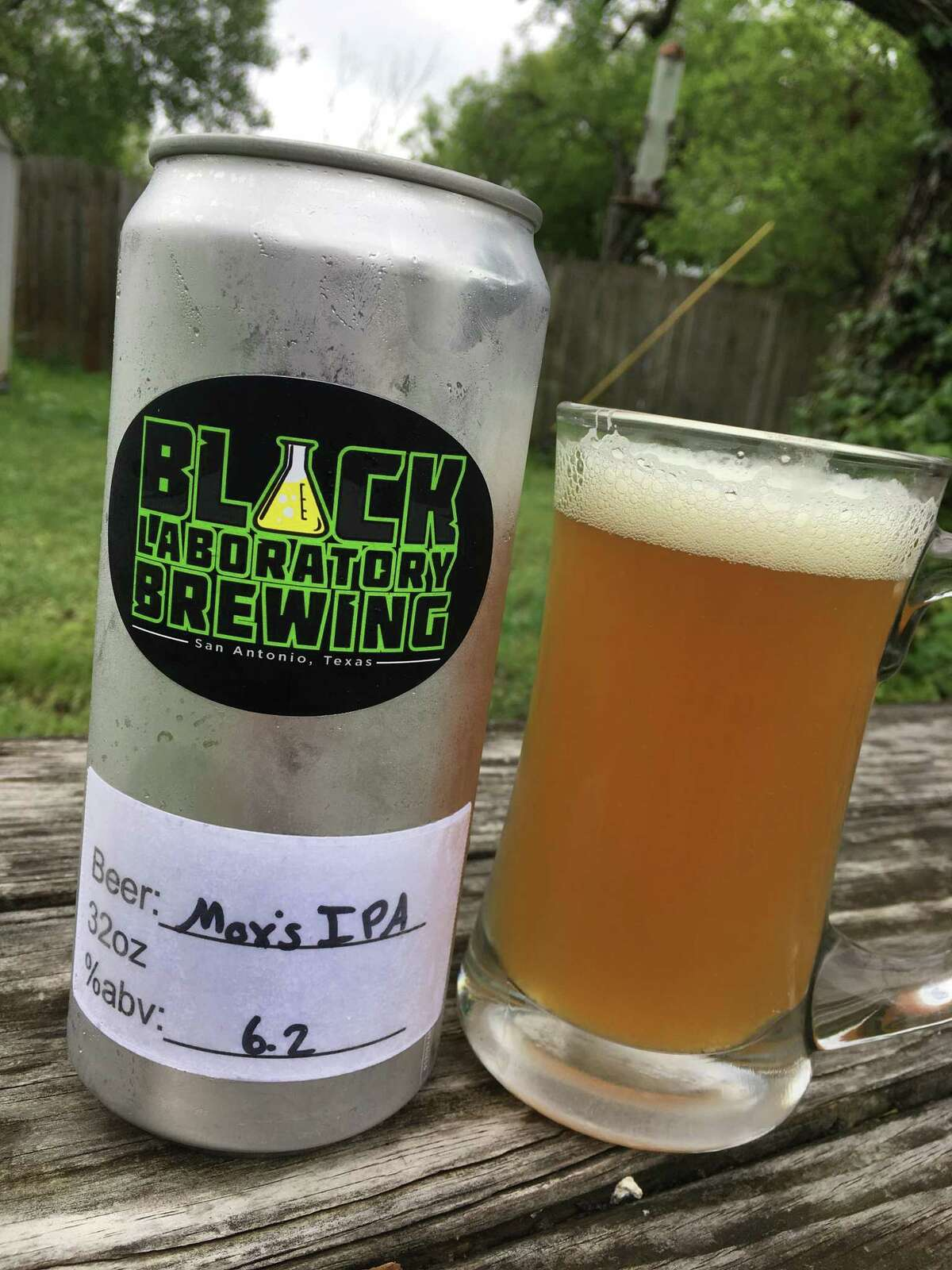 Max's IPA is one of five beers currently available at Black Laboratory Brewing.