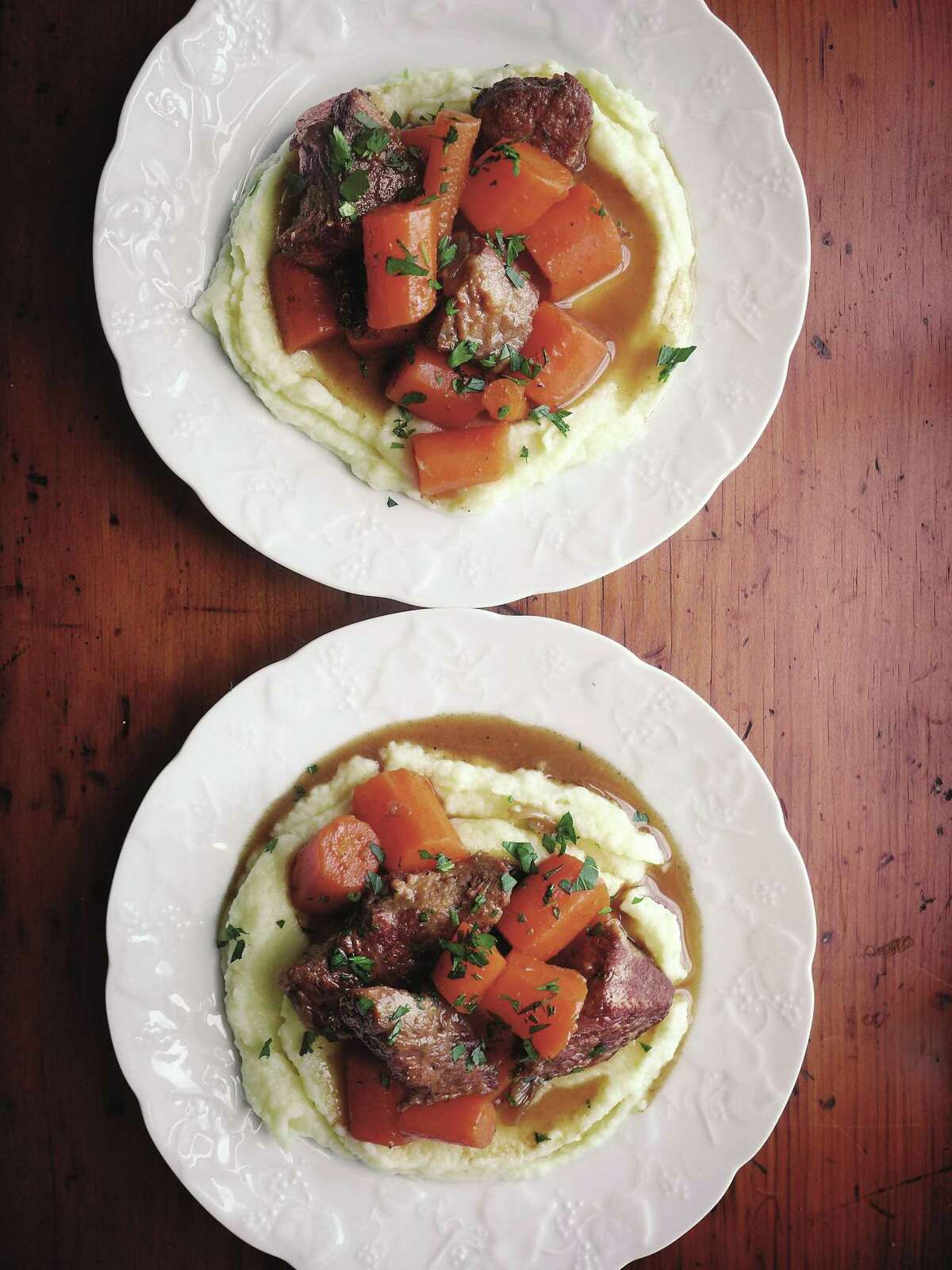 """Beef and Carrots recipe from""""Canal House: Cook Something"""" by Melissa Hamilton and Christopher Hirsheimer."""