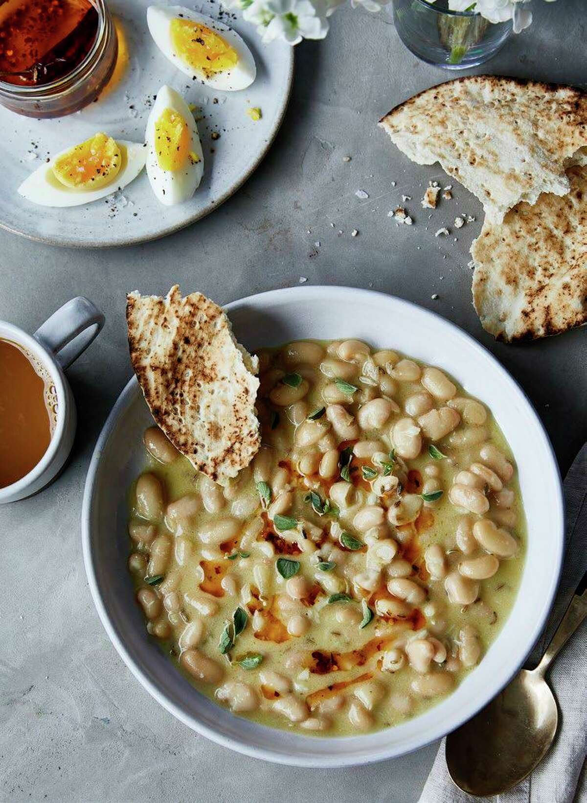 """Fool's Ful, a recipe for a cannellini bean stew, can be found in """"Kitchen Remix"""" by Charlotte Druckman."""
