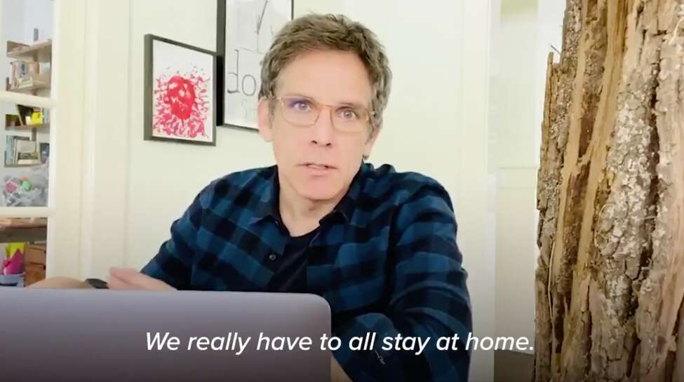 Actor Ben Stiller, in a video posted to Gov. Andrew M. Cuomo's Twitter account on Sunday, March 22, 2020, urges New Yorkers to stay home amid the coronavirus pandemic.