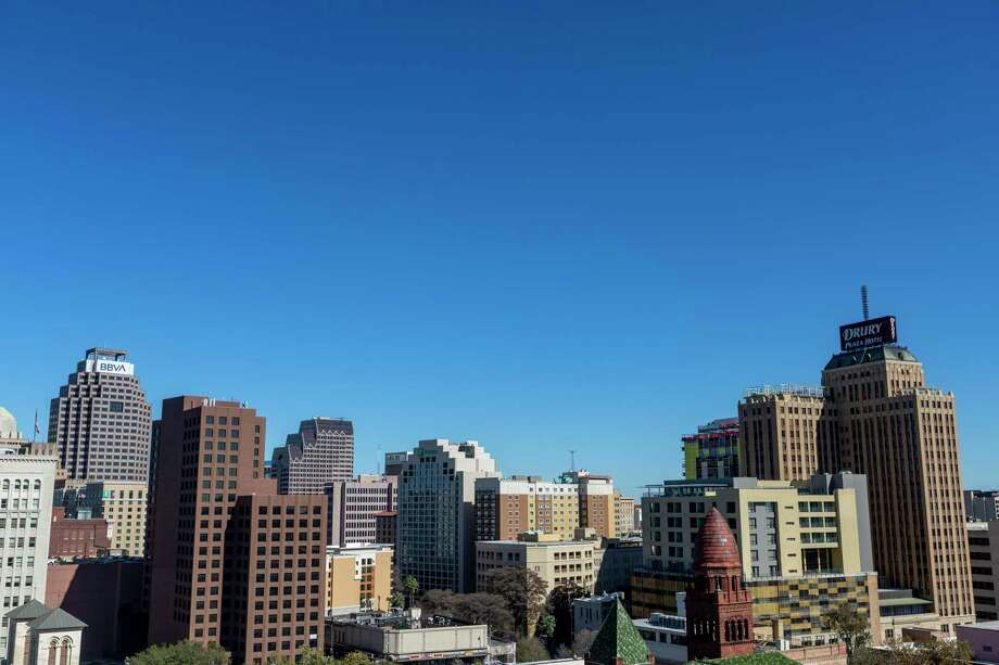 The downtown San Antonio skyline on a clear January day. Austin and San Antonio together, with their focus on equity and human capital priorities forged during the pandemic, have the best opportunities to make notable strides forward in quality of life. Our futures are intertwined. Photo: William Luther /Staff / ©2020 San Antonio Express-News
