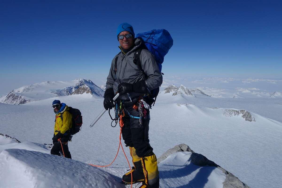 Graham Cooper, of Oakland, climbing Vinson Massif in Antarctica in 2015.