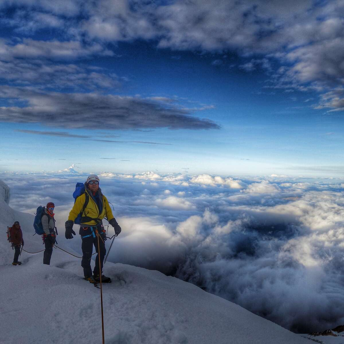 Graham Cooper, of Oakland, climbing in Ecuador in 2015.