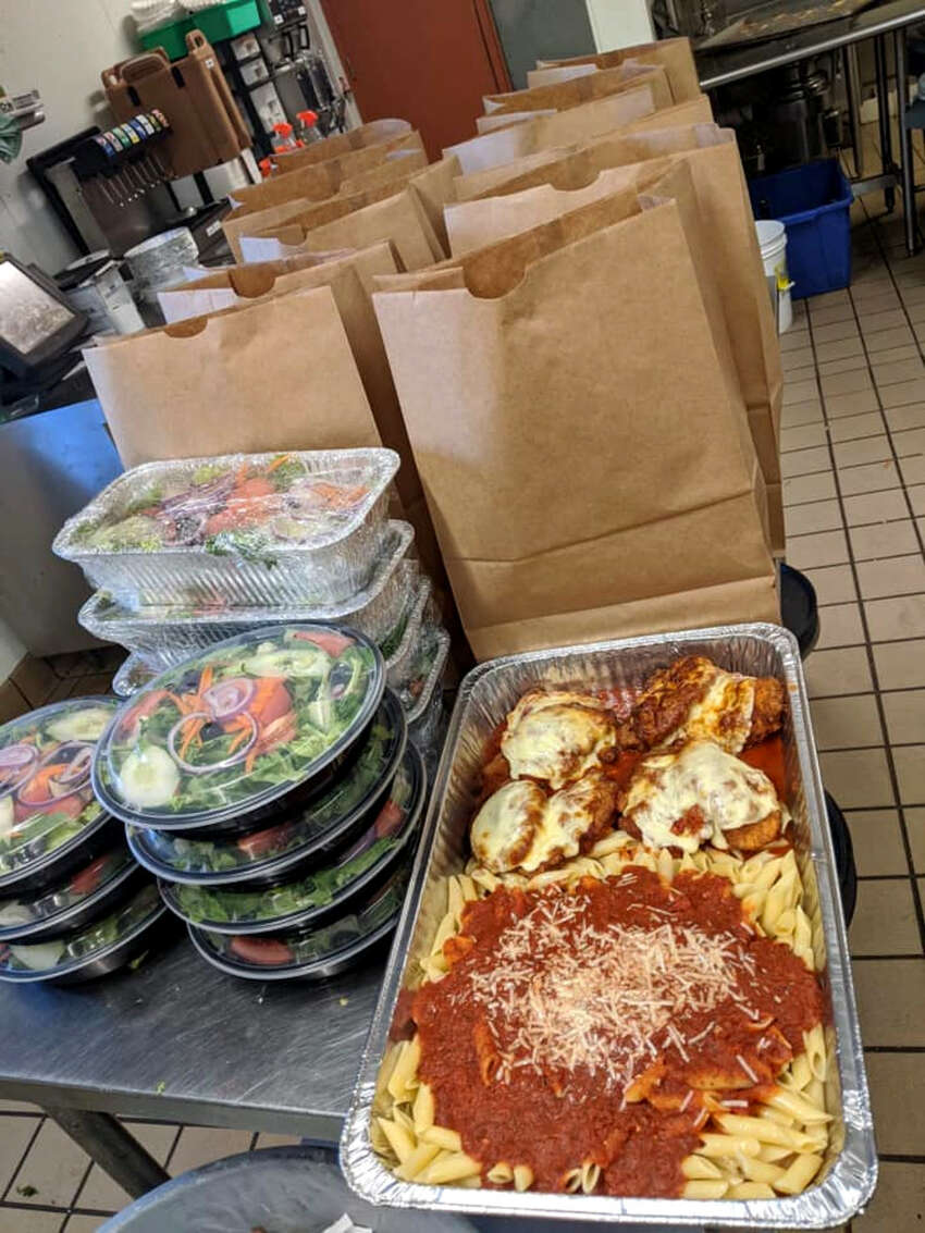 Takeout meals over the weekend at McGreivey's Restaurant in Waterford.