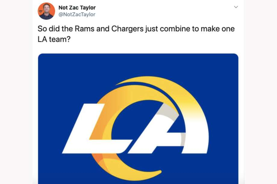 The Los Angeles Rams released a new logo, and everyone had jokes. Photo: Twitter