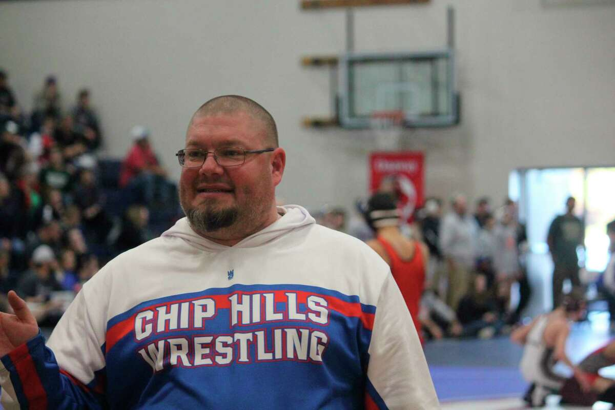 Kevin Edwards was in his second year as Chippewa Hills wrestling coach. (Pioneer file photo/John Raffel)