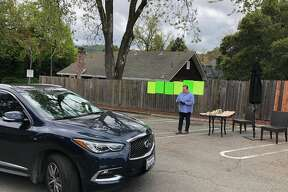 Flights restaurant in Los Gatos has opened a 'no-touch' drive-through grocery store in their parking lot.