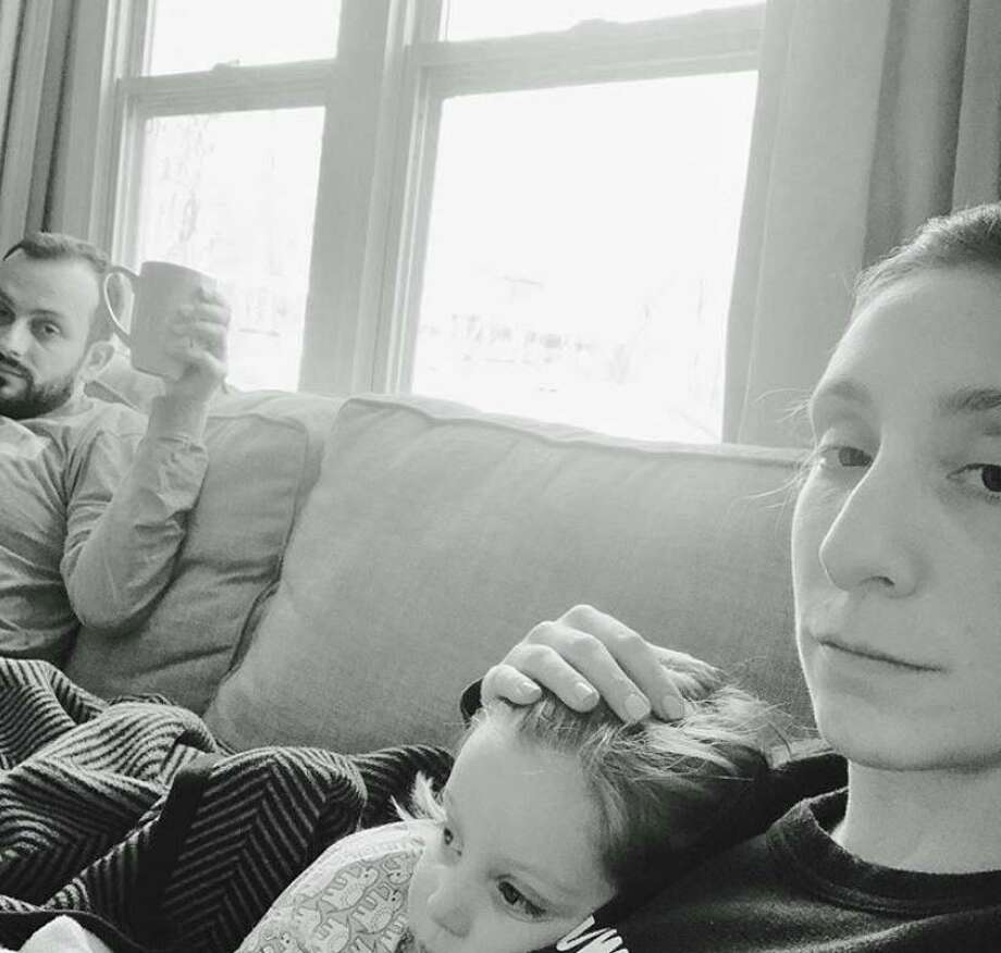 An Instagram post from blogger Julia Dzafic with her daughter, Amalia, and husband Anel, at their Westport, Conn., home. According to Dzafic, she was tested last week for coronavirus and is awaiting results. She, her husband and her daughter all had similar symptoms she believes are consistent with coronavirus, which has spread quickly in town. Photo: Julia Dzafic / Contributed Photo