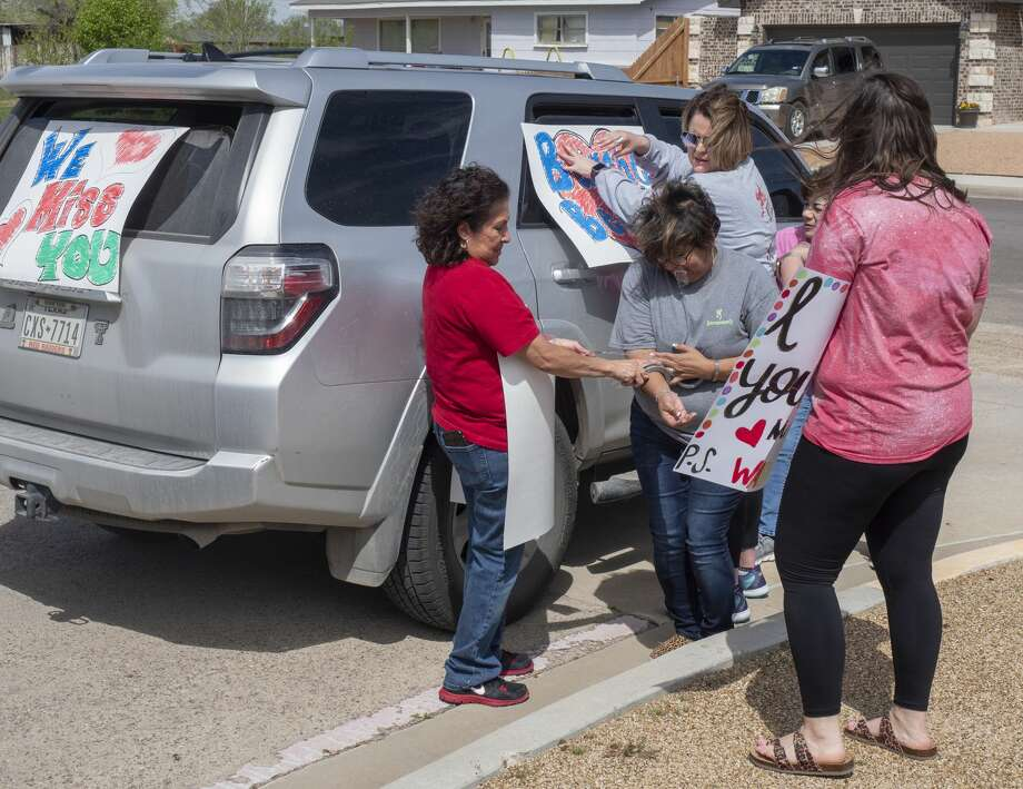 Bunche Elementary teachers and staff decorate their cars and for a parade around their district 03/23/2020 afternoon. Tim Fischer/Reporter-Telegram Photo: Tim Fischer/Midland Reporter-Telegram