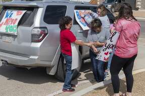 Bunche Elementary teachers and staff decorate their cars and for a parade around their district 03/23/2020 afternoon. Tim Fischer/Reporter-Telegram