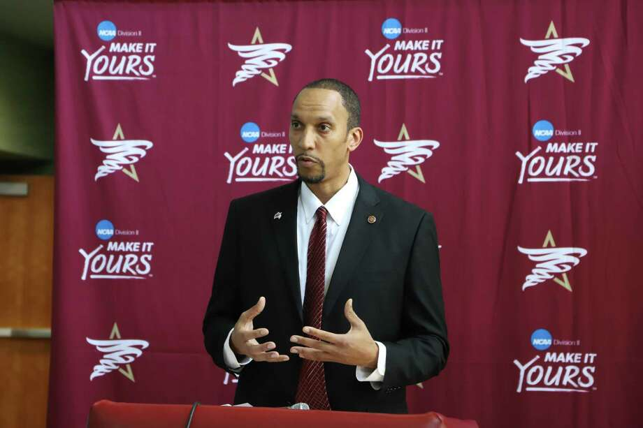 Rodney McConnell was introduced as Texas A&M International's new head men's basketball coach. Photo: Photo By Derly Moreno
