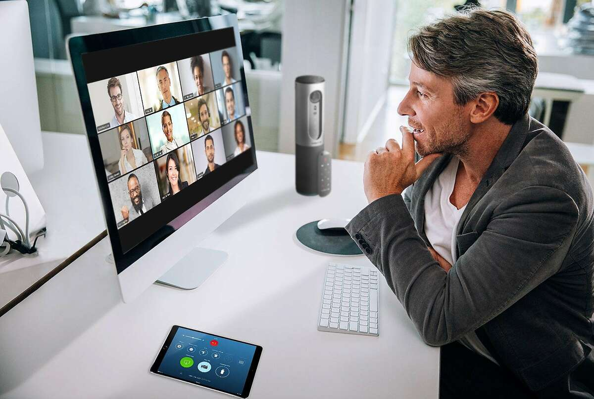 A product image from Zoom Video Communications shows the video conferencing feature of the application.