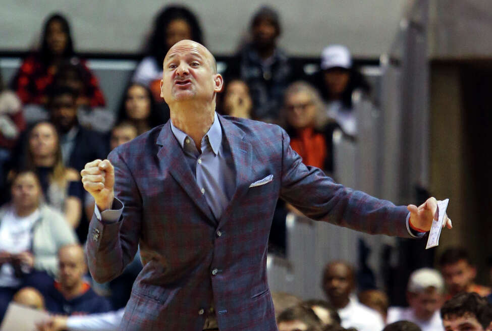 FILE - In this Jan. 9, 2018, file photo, Mississippi head coach Andy Kennedy reacts to a call during the first half of an NCAA college basketball game against Auburn in Auburn, Ala. UAB has hired former Mississippi coach Andy Kennedy to lead its basketball program. The Blazers announced Kennedy's return to his alma mater on Friday, March 20, 2020. A two-time Southeastern Conference coach of the year and the Rebels' winningest coach, Kennedy remains the second-leading scorer in UAB program history.(AP Photo/Butch Dill, File)