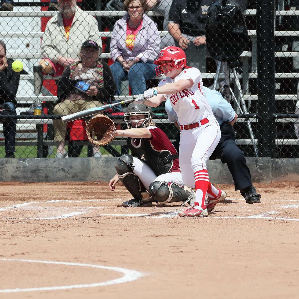 Shenendehowa High graduate Kelly O'Gorman of the Cortland softball team. (Courtesy of Darl Zehr Photography)
