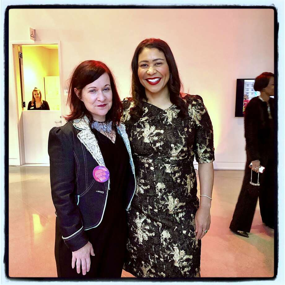 Mayor London Breed (right) with Yerba Buena Center for the Arts CEO Deborah Cullinan in April 2019. Breed is now joining forces with cultural leaders for city-funded assistance for artists and cultural organizations during the coronavirus health pandemic. Photo: Catherine Bigelow / Special To The Chronicle 2019