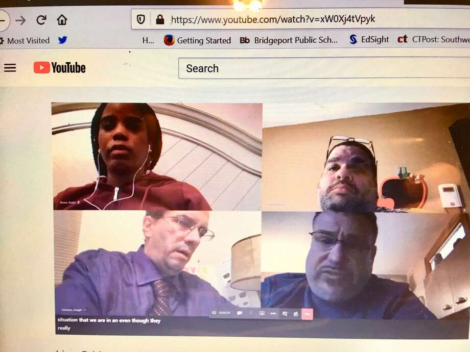 Bridgeport Board of Education holds a virtual meeting. March 23, 2020 Photo: Linda Conner Lambeck