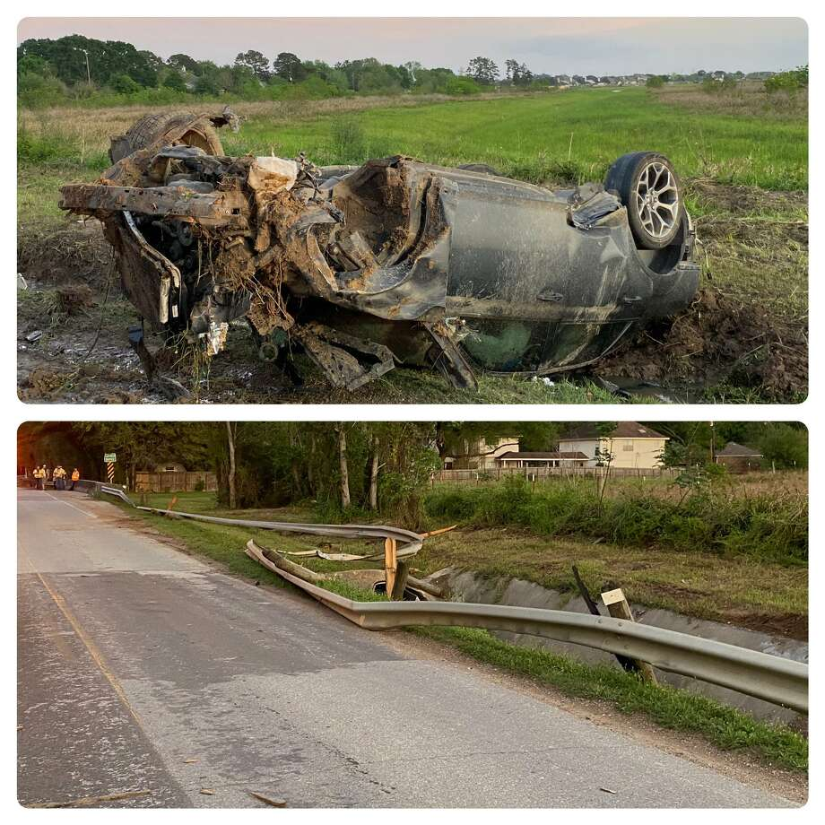 One person is dead and three juveniles hurt after a fatal crash Monday in the 26300 block of Morton Road. Photo: Harris County Sheriff's Office