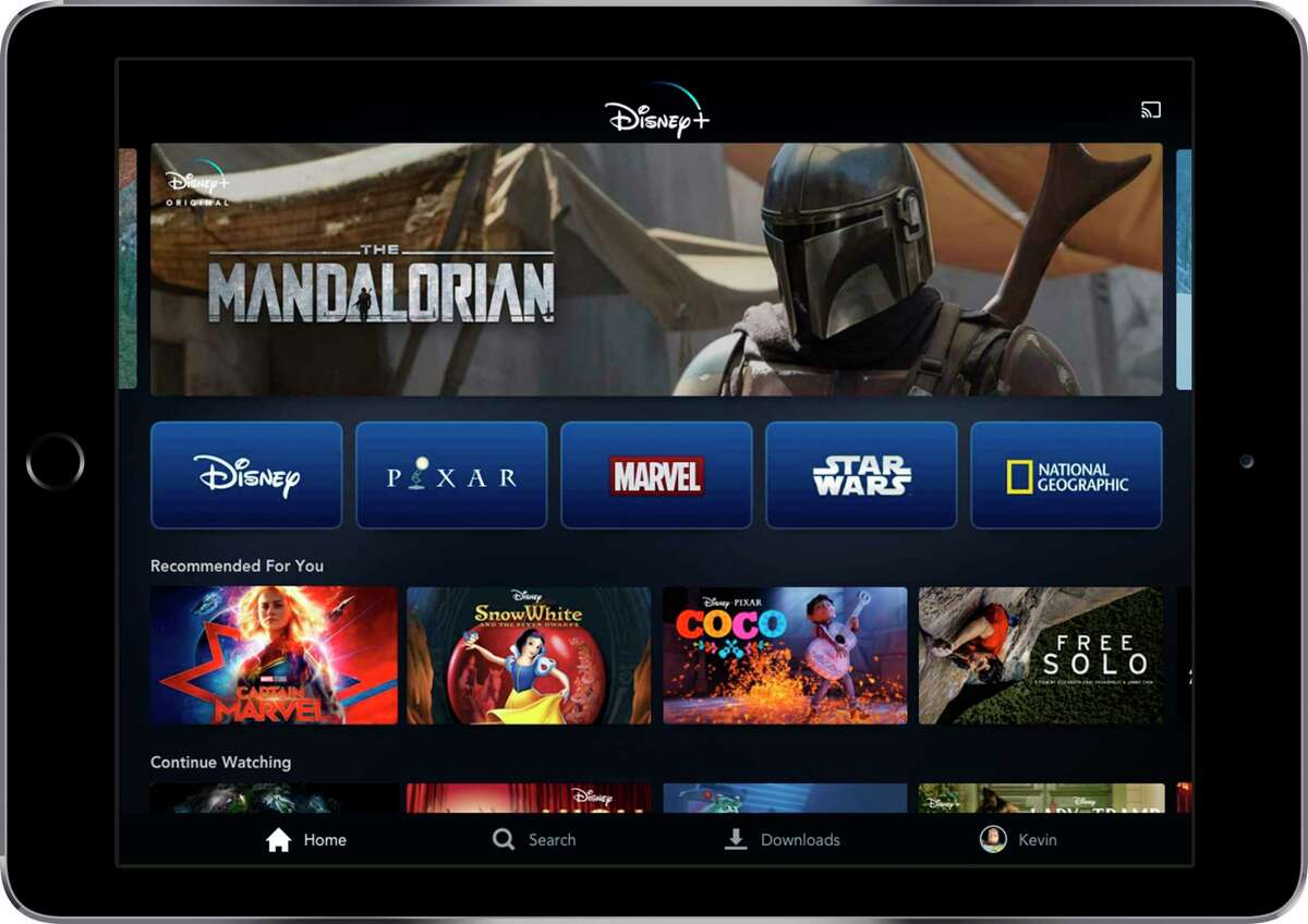The Disney Plus streaming service is one of the big winners as Americans staying at home to avoid spreading the coronavirus are signing up for new offerings.
