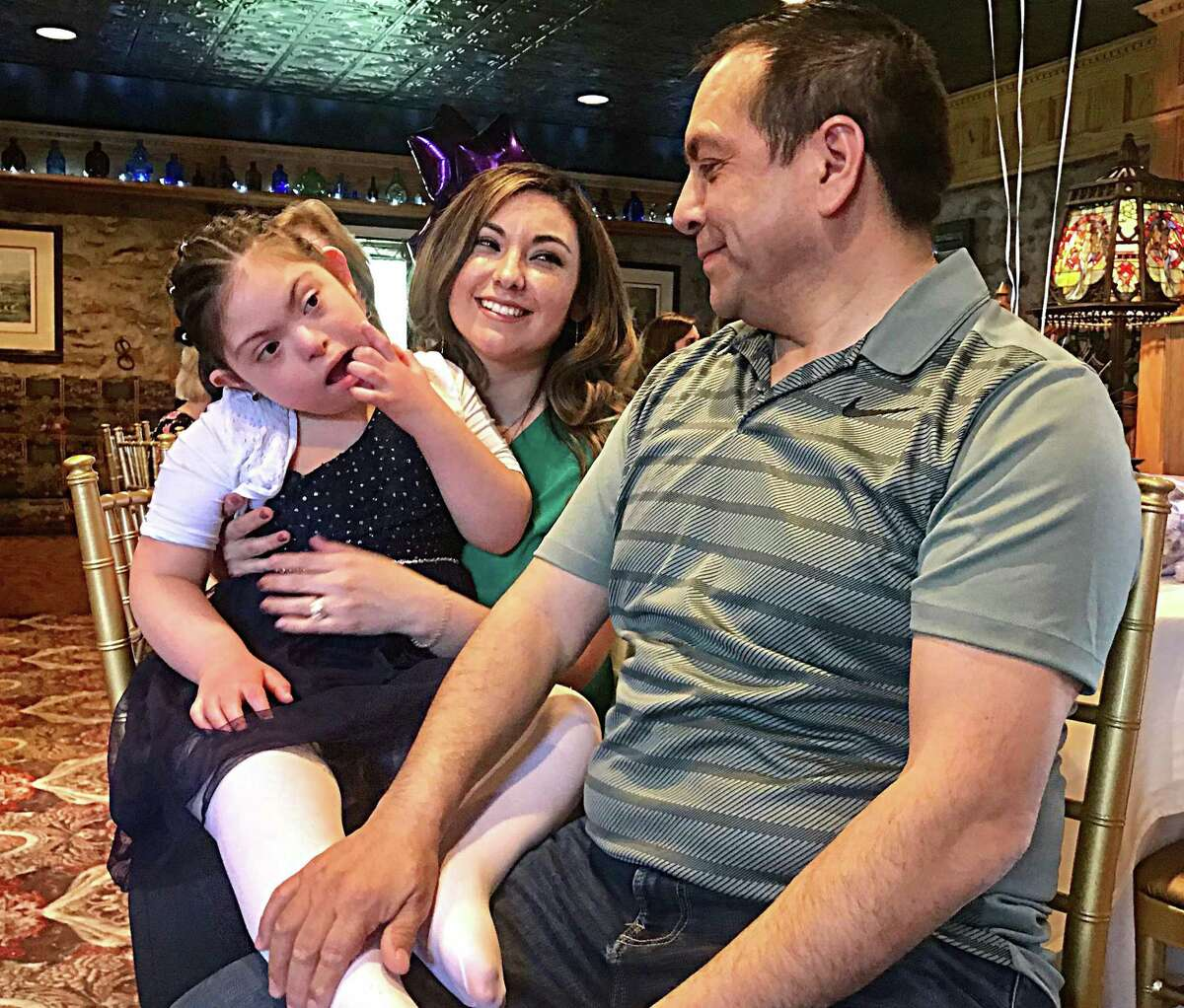 From left, 10-year-old Brianna and her parents Mayra and Fernando Zhanay of Stratford had planned to fly to Rome, Italy, May 22 for a weeklong visit.