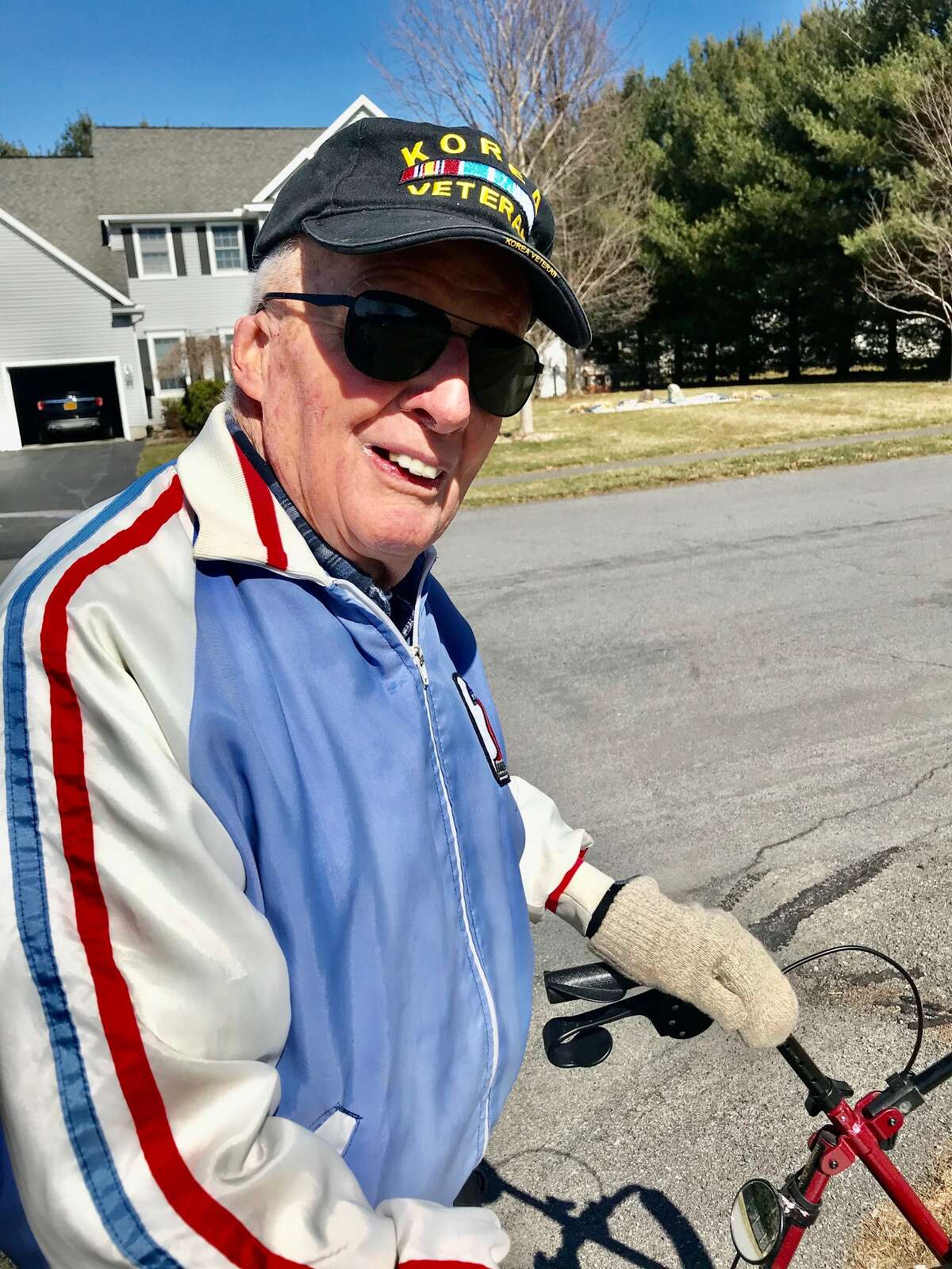 Fred Malone survived prostate cancer, a broken neck, traumatic brain injury, Parkinson's disease and a broken hip. He feels his daily walk is keeping him alive.