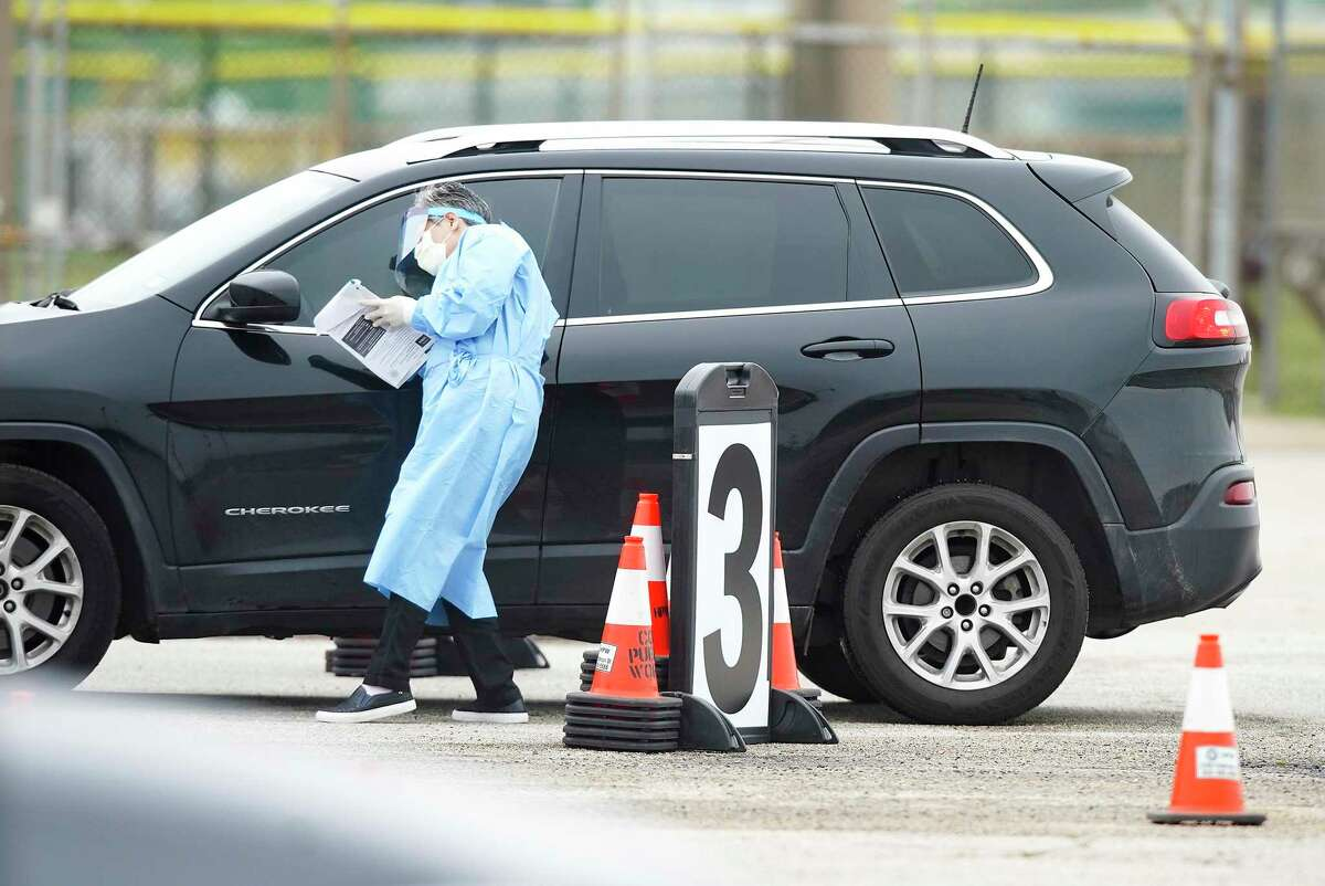 PHOTOS: Houston life during the coronavirus pandemicHealth care workers talk to people through their car windows at a free COVID-19 drive-thru testing site at Butler Stadium in Houston on Saturday, March 21, 2020.>>>Keep clicking for photos of life in Houston during the pandemic...