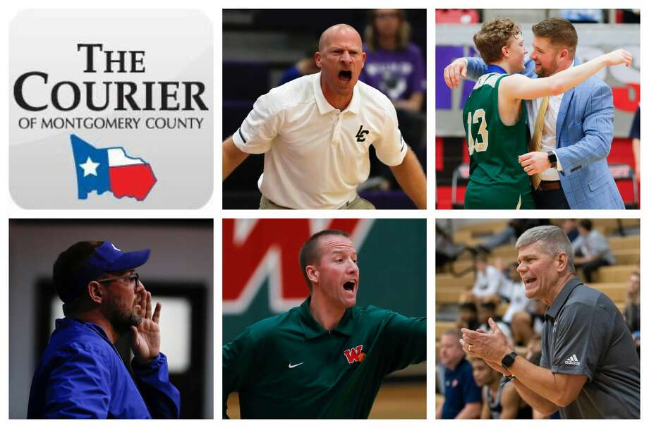 Lake Creek's Shannon Spencer, TWCA's Tanner Field, Covenant's Jeff Evans, The Woodlands' Dale Reed and College Park's Clifton McNeely are The Courier's nominees for Coach of the Year. Photo: Staff Photos