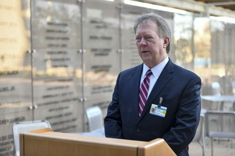 CEO and president Russell Meyers held a press conference on Tuesday, March 24, 2020 at Midland Memorial Hospital. Photo: Jacy Lewis/Reporter-Telegram