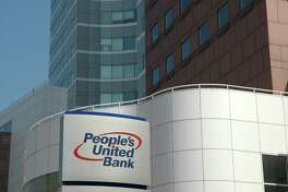 The headquarters branch of People's United Bank in Bridgeport, Conn.