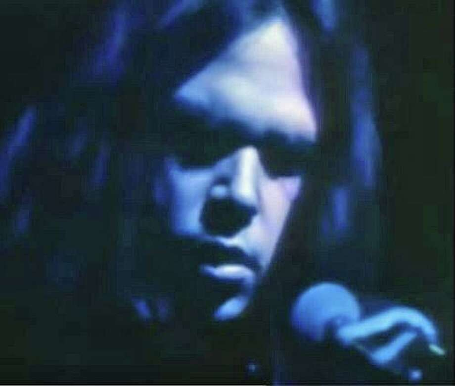 """The concert at the Stratford theater happened on Jan. 22, 1971. It was there that Young performed the now classic tunes of """"Tell me Why,"""" """"Sugar Mountain,"""" """"Don't Let it Bring You Down"""" and """"Heart of Gold."""" Photo: Screen Grab Image"""
