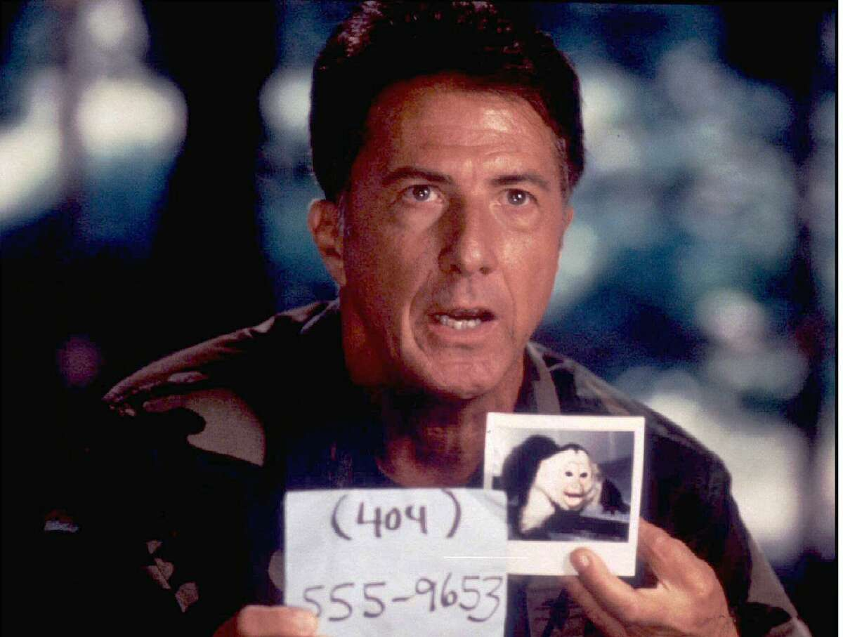"""Dustin Hoffman is searching for the monkey carrying a deadly virus in """"Outbreak."""""""