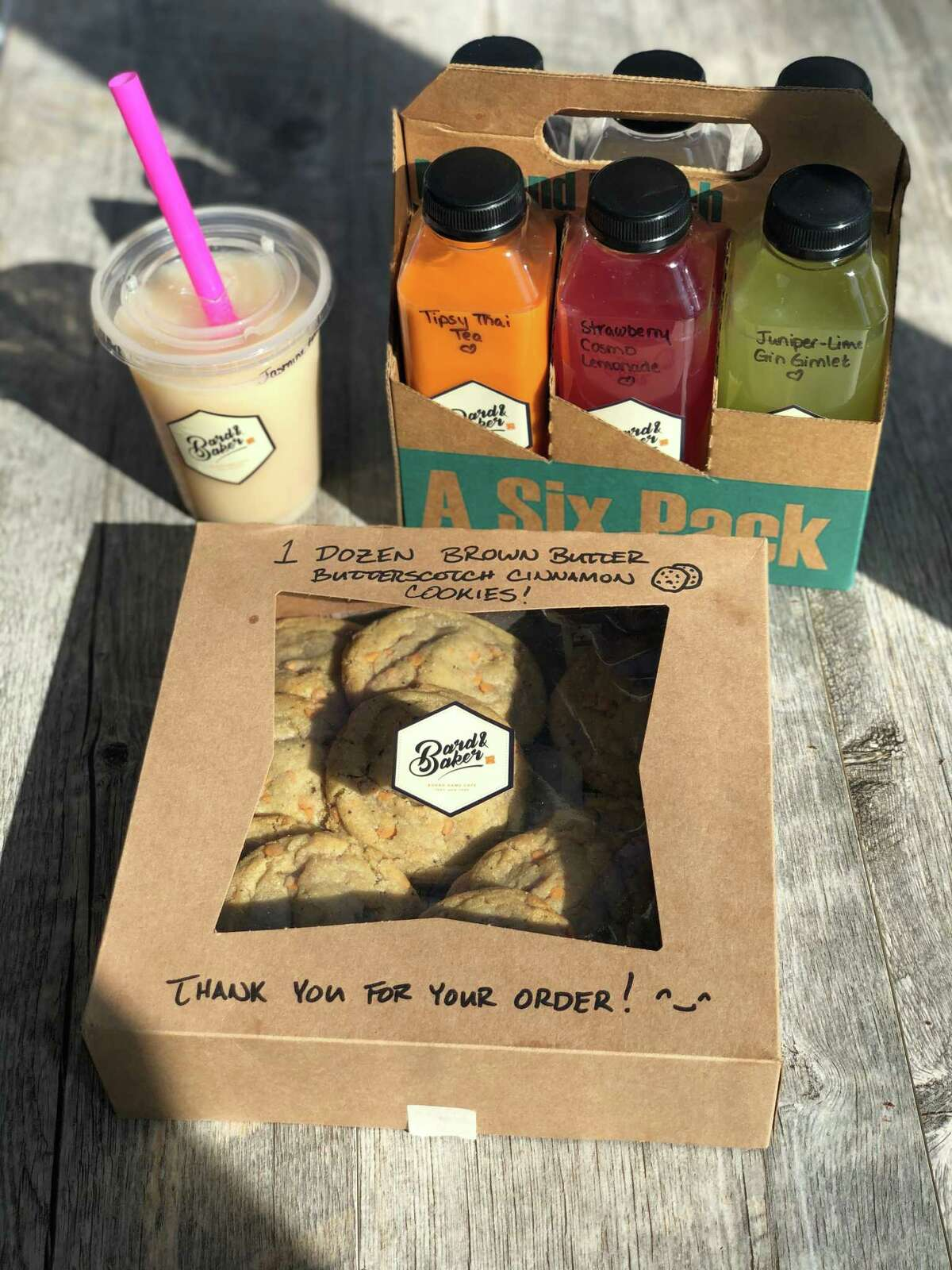 Takeout cookies, boba teas and boozy boba from Bard & Baker in Troy.