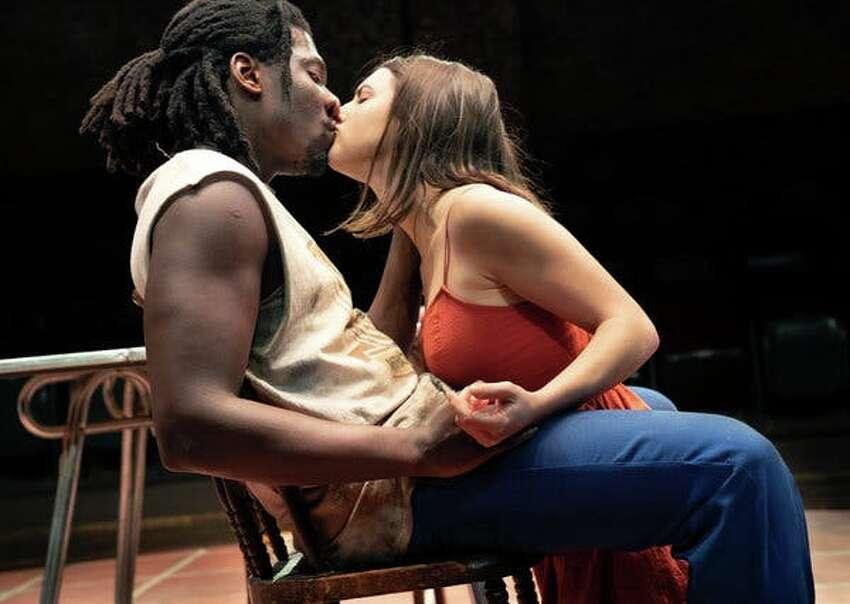 Actors James Udom and Elise Kibler