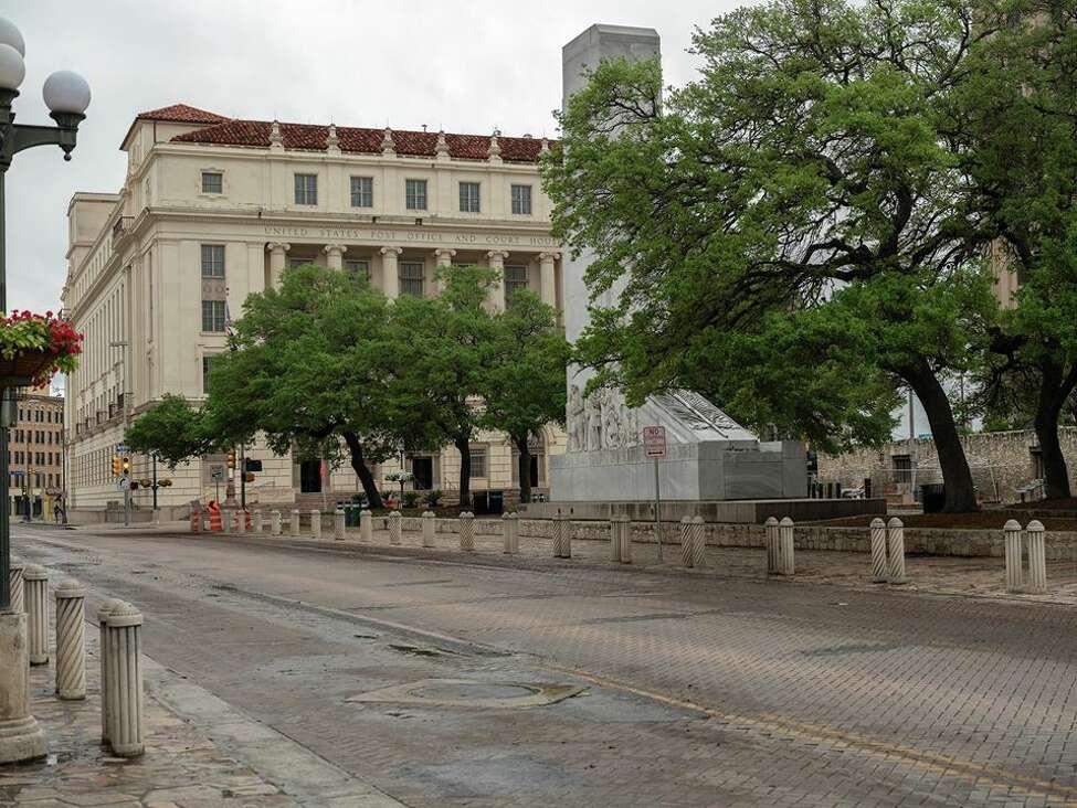 Alejandro Aldana took photos of the empty downtown streets in San Antonio.