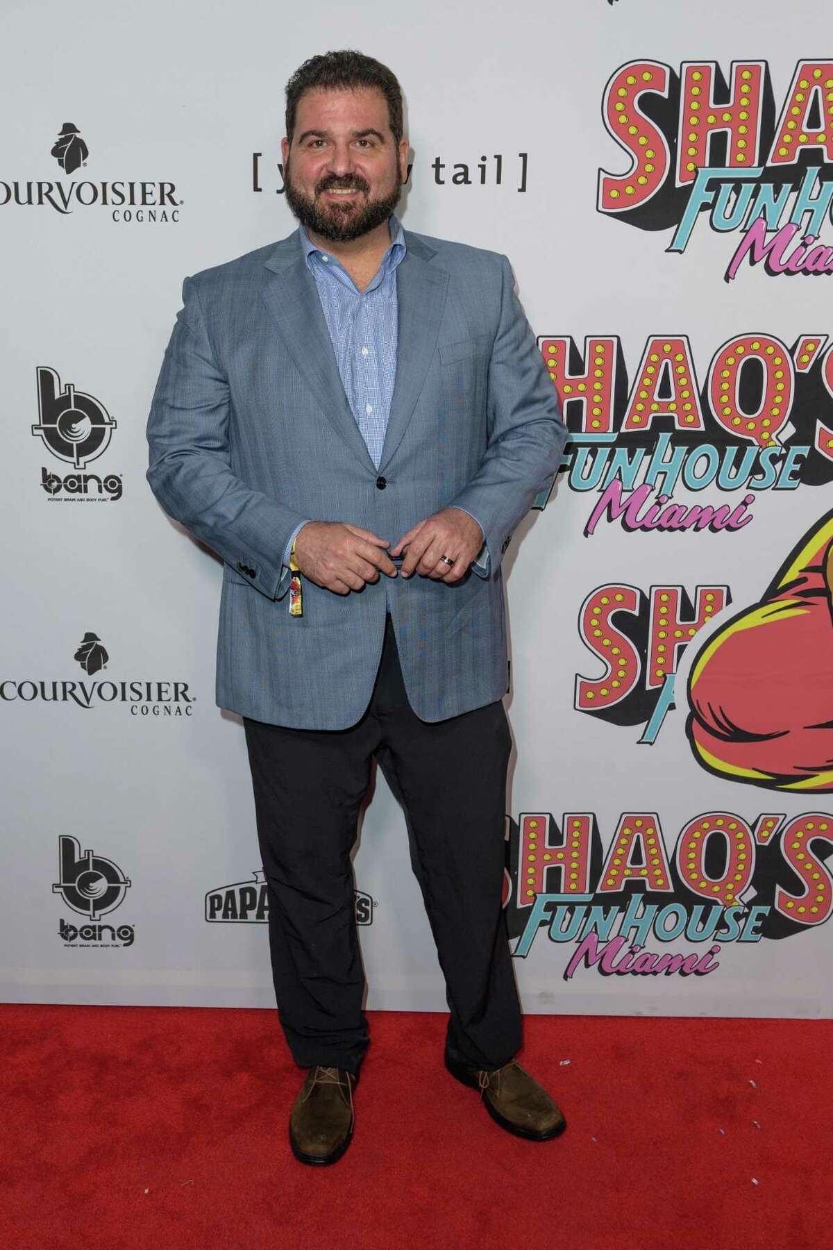 Dan LeBatard arrives at Shaq's Fun House at Mana Wynwood Convention Center in Florida earlier this year.