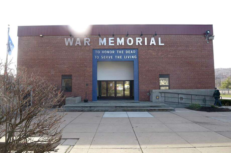 The city is cleaning and converting the War Memorial in Rogers Park into temporary housing for the homeless. Tuesday, March 24, 2020, in Danbury, Conn. Photo: H John Voorhees III / Hearst Connecticut Media / The News-Times
