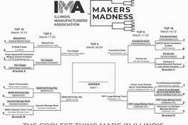 """Voting is now open in the final round of the inaugural """"Makers Madness"""" contest, a bracket-style tournament hosted by the Illinois Manufacturers' Association to determine """"The Coolest Thing Made in Illinois."""""""